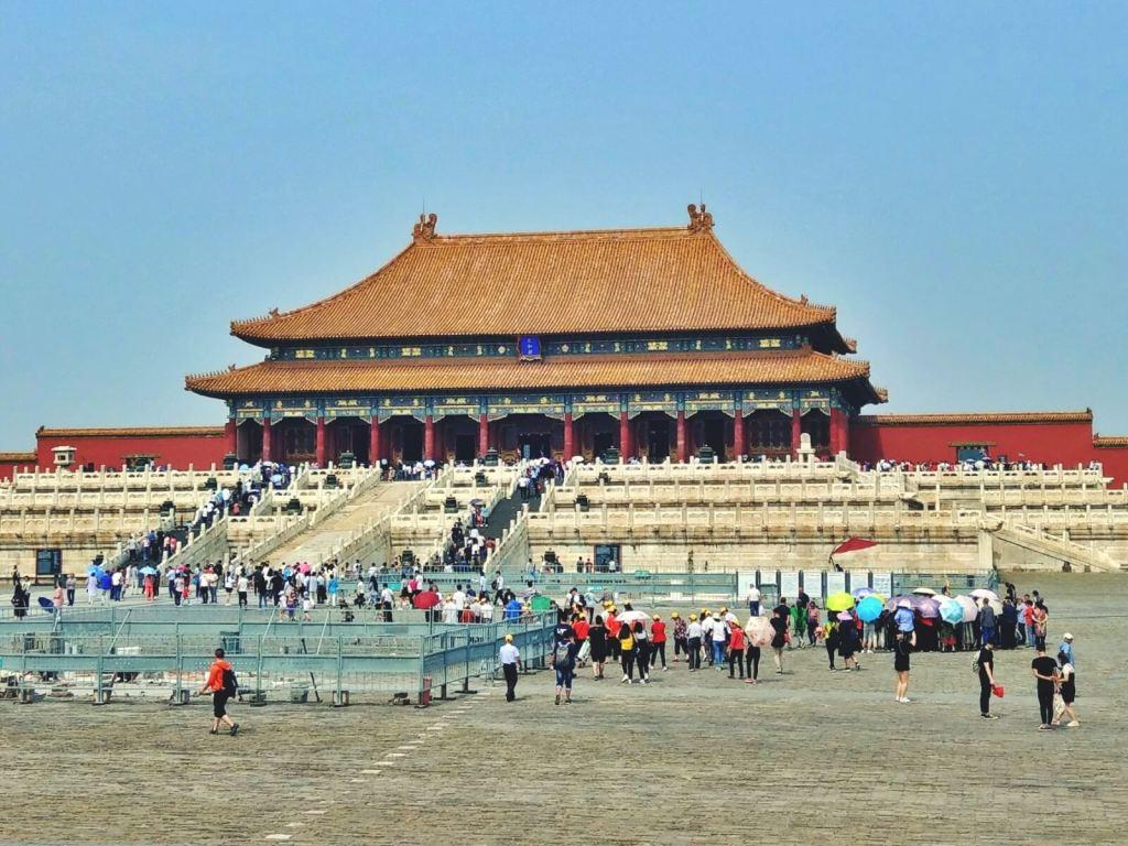 Zakazane miasto w Pekinie - brama Najwyższej Harmonii.