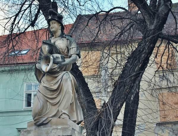 Fontanna w Bratysławie.