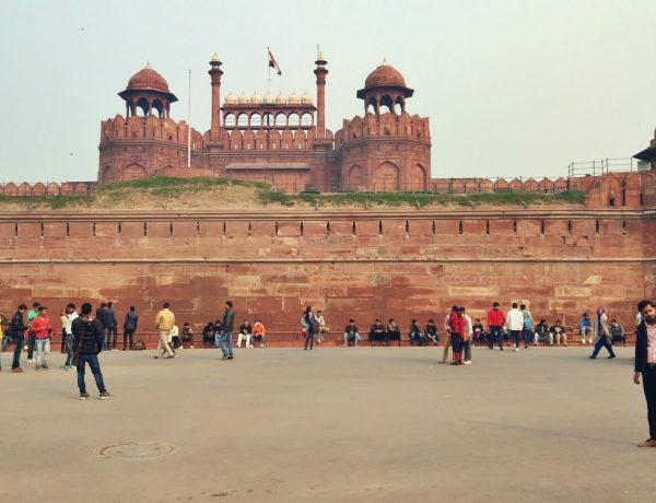 Czerwony Fort z Delhi.