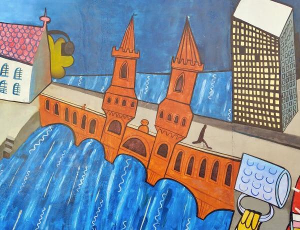 Fragment muru berlińskiego.