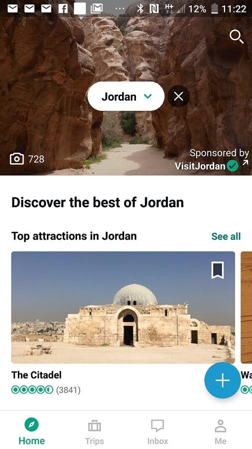 Aplikacja dla podróżników Tripadvisor.