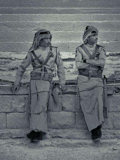 Jordańscy policjanci.