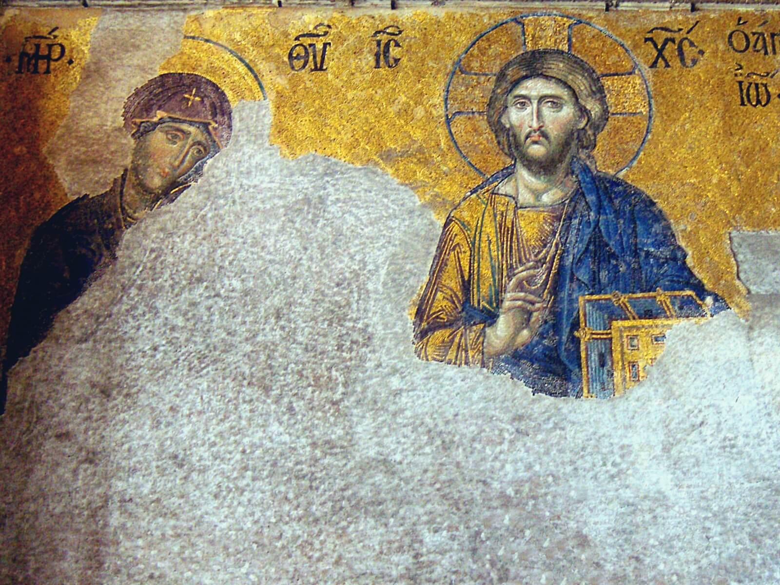 Freski z Hagia Sophii w Stambule, w Turcji.
