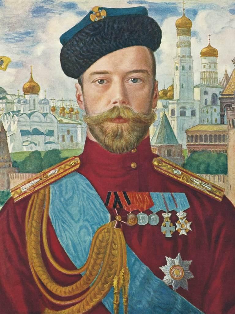 Ikona Mikołaja Romanowa, świętego kościoła prawosławnego.