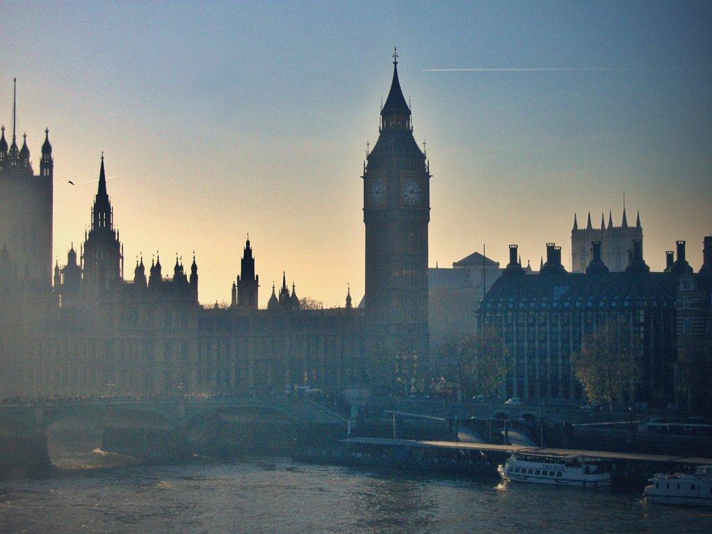 Widok na opactwo Westminster w Londynie.