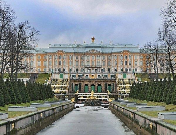 Pałac carski w Peterhofie.