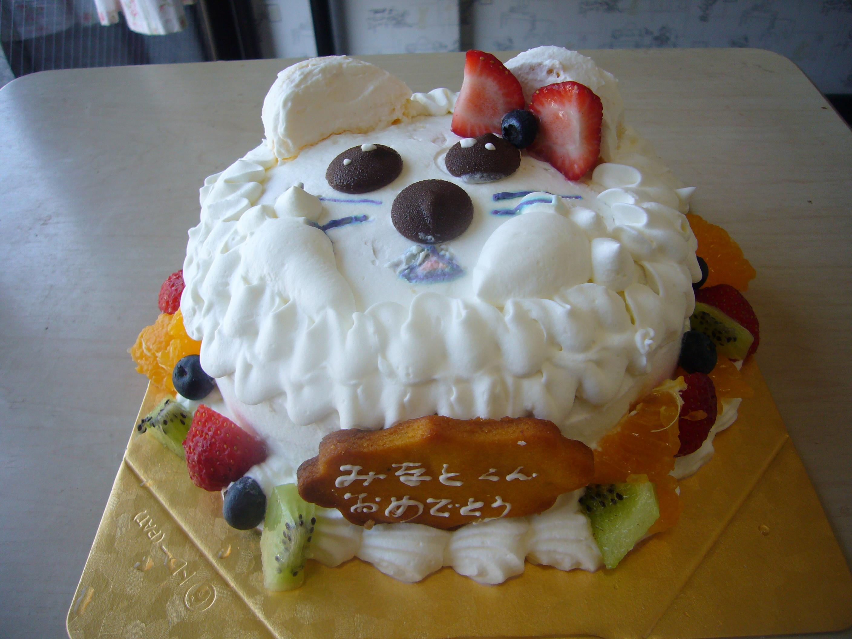 乳禁、卵禁のケーキ