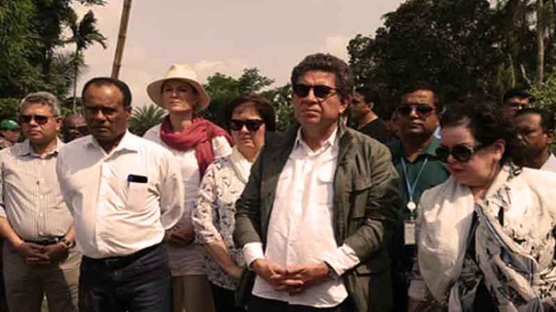 কক্সবাজার রোহিঙ্গা ক্যাম্পে জাতিসংঘের প্রতিনিধি দল