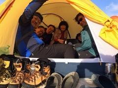 テント泊組の一時