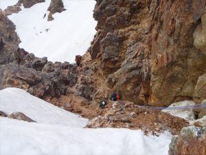 硫黄尾根・赤岳前衛P4懸垂下降