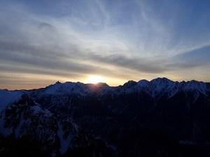 穂高からの日の出