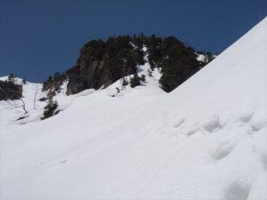 広サコ尾根岩峰