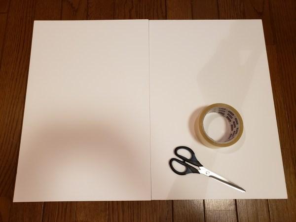 ダイソーのカラーボードの製品表示