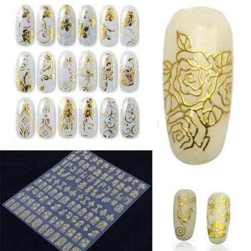 3D nagų dailės lipdukų rinkinys