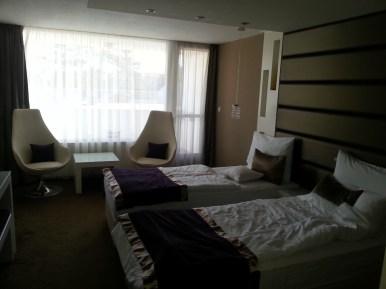 Egy ilyen hosszú nap után egy ilyen szobában lepihenni nagyszerű élmény!