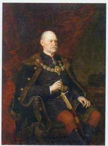 Ormós Zsigmond portréja,  Id. Vastagh György festménye - a temesvári képtárban