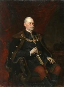 Ormós Zsigmond portréja. Id. Vastagh György festménye
