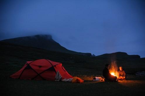 Lagerfeuer auf Foula