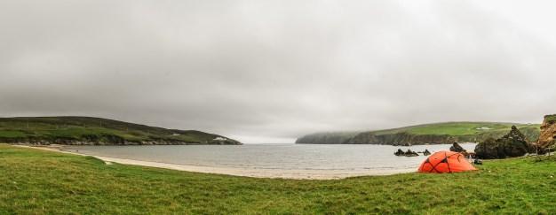 Zelten am Strand von Burrafirth