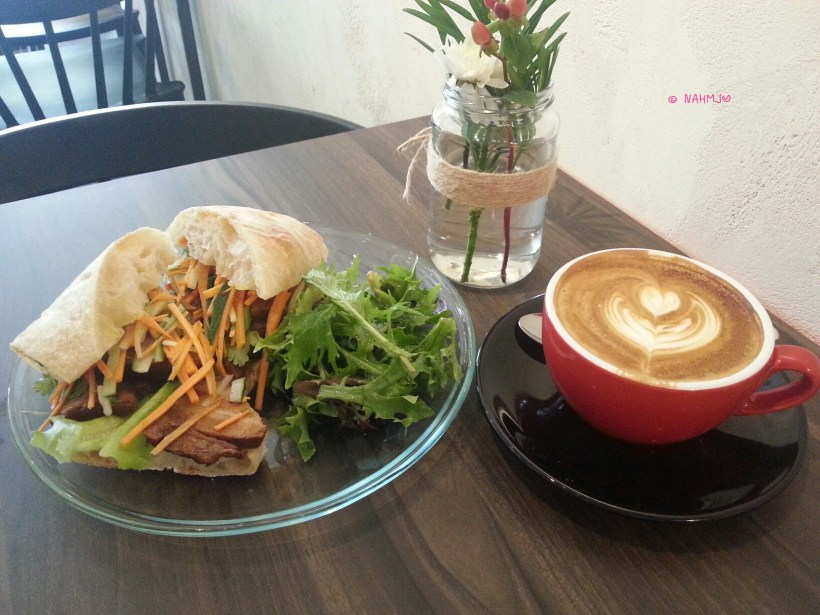 The Daily Press - My Lunch, Ponteh Babi Sandwich with Cappuccino
