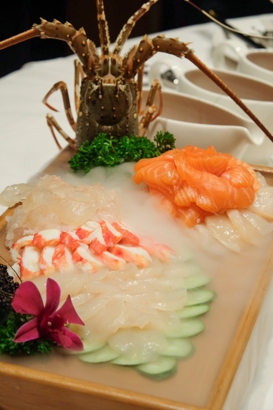 Lobster, Crab, Scallop and Salmon