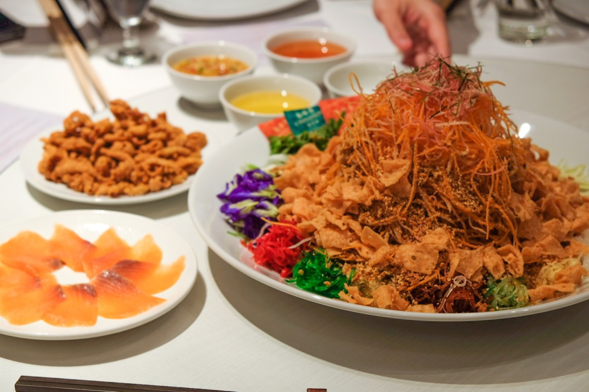 Usher 2020 Lunar New Year With Delectable Dining Options - Thanying Thai Style Salmon Yusheng with Chicken Curls