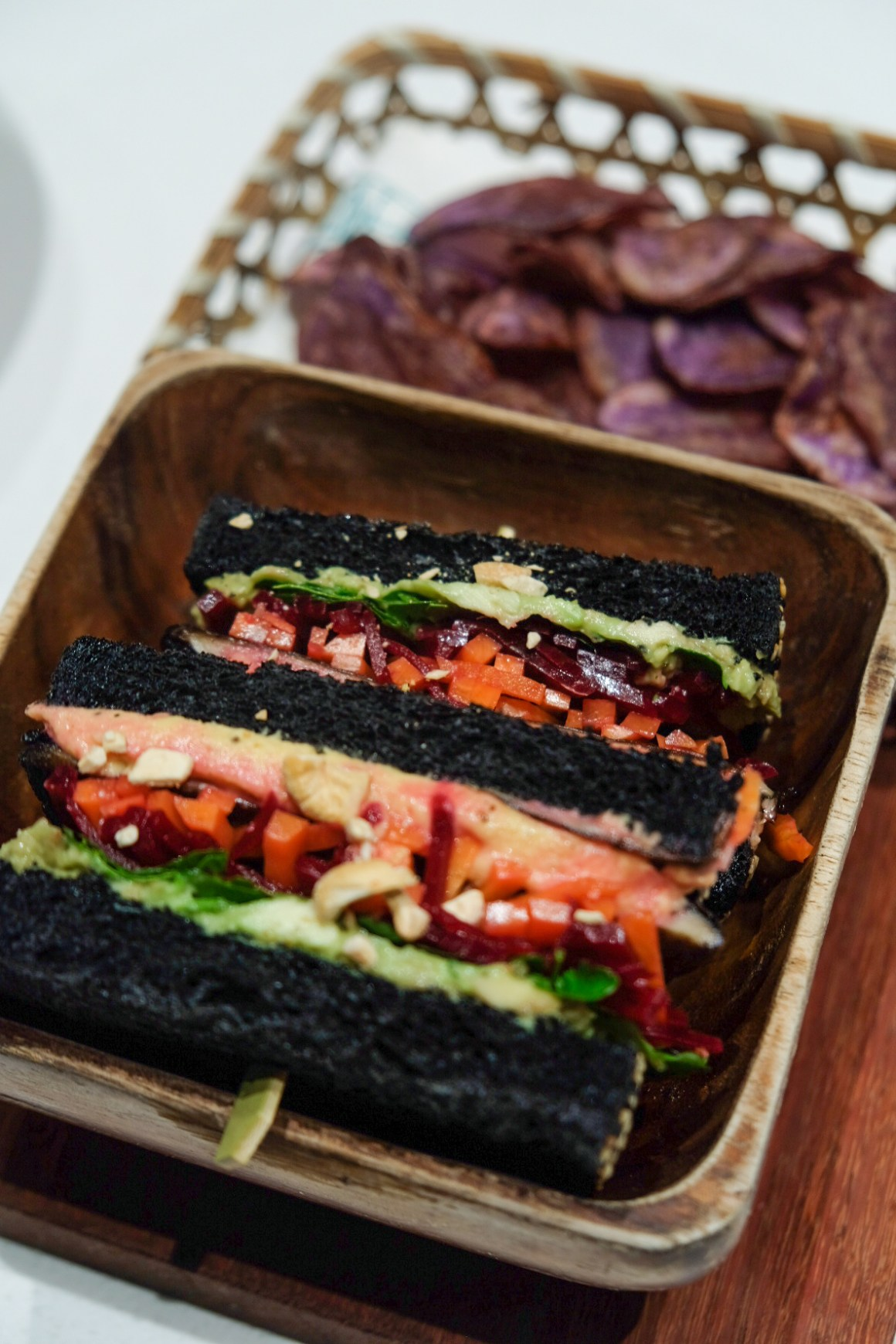 Tiong Bahru Bakery Diner New Menu By Chef Paul Albert - Portobello, Avocado & Hummus Black Sandwich ($19)