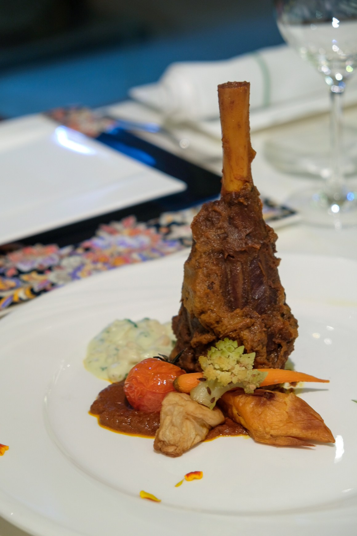 Spring Menu At Tandoor With A Touch of French - Australian lamb shank