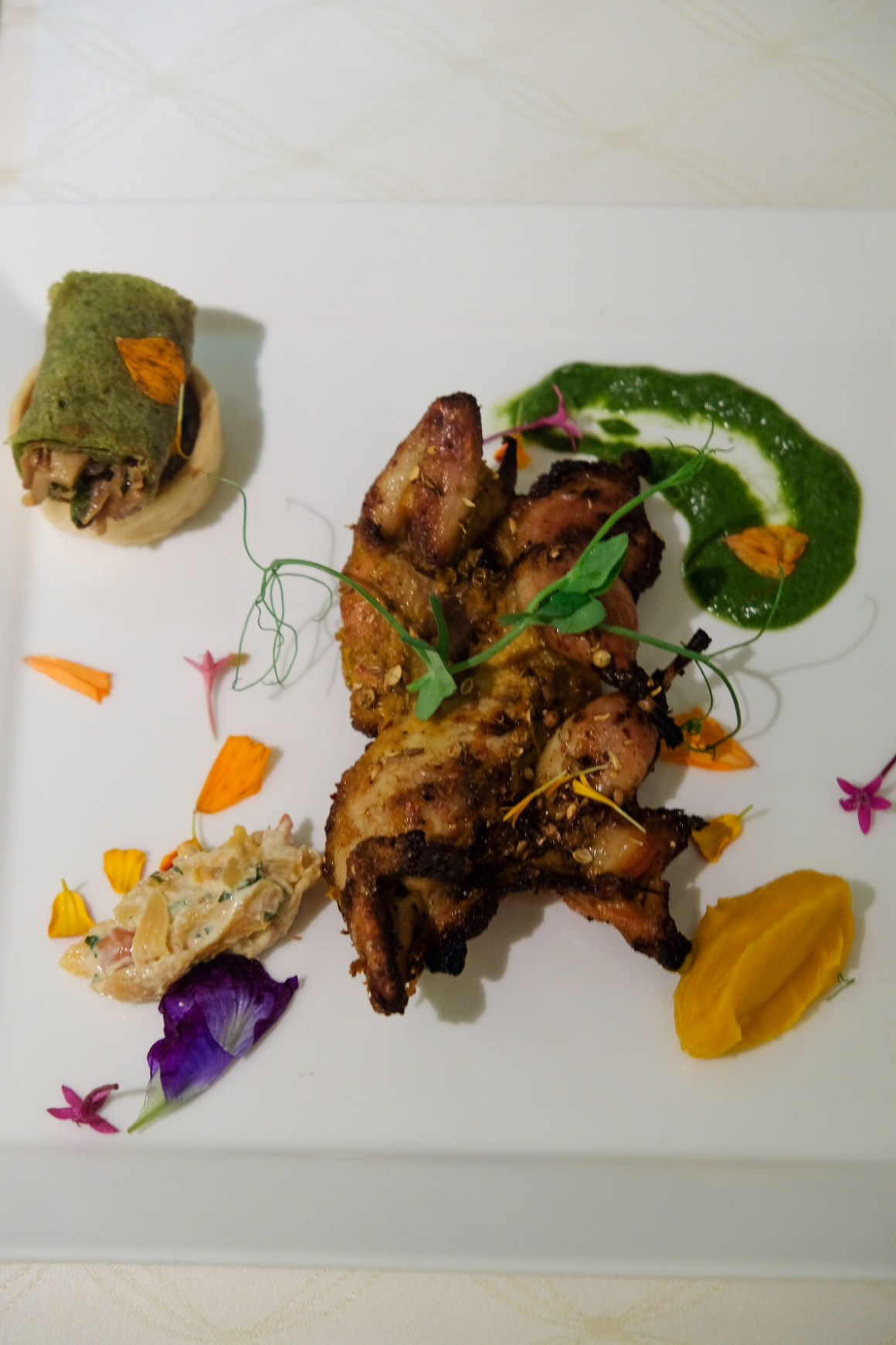 Spring Menu At Tandoor With A Touch of French - Tandoori Quail