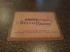 British Hainan Menu