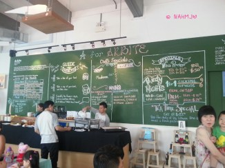 A For Abrite Cafe Menu Board