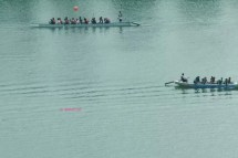 A view from the flyer - Dragon Boat practice in Kallang River