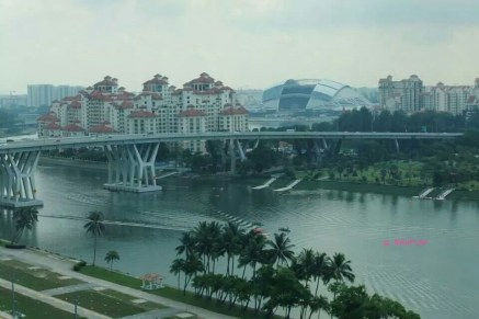 First View of Singapore since the ride