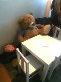 Teddy Bear and his corner on 3rd floor