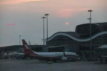 Hong Kong Airport, Sun Set Diminishing