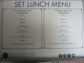 More Set Lunch Menu