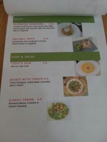 Pasta, Soup & Salad Menu