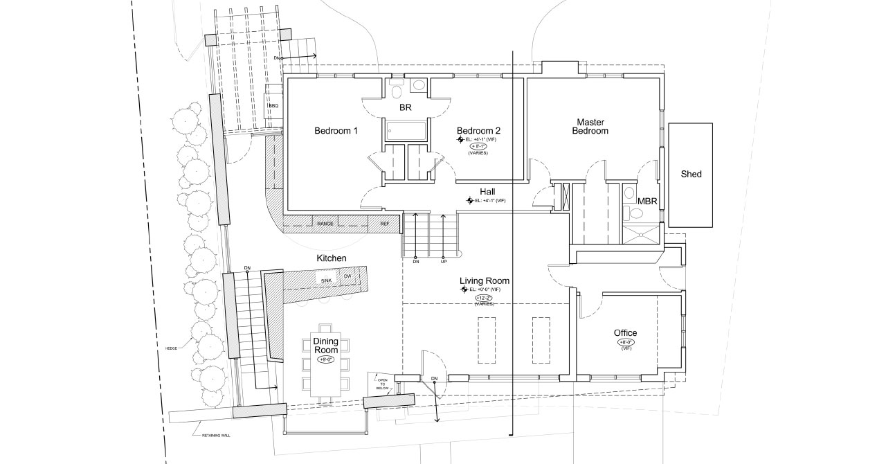 Residence With Custom Wine Cellar | Ground Floor Plan