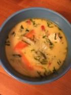 Kokossuppe mit Garnalen