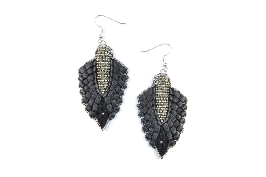 Boucles d'oreilles rock Colette | Black | Photo 1