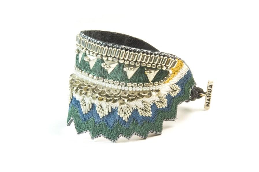 Bracelet ethnique Maheswari | Green/Honey | Photo 2