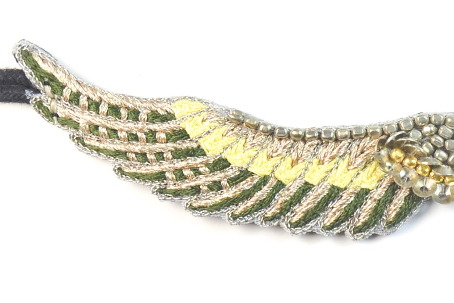 Bracelet bohème Shaila | Green/Yellow | Photo 4