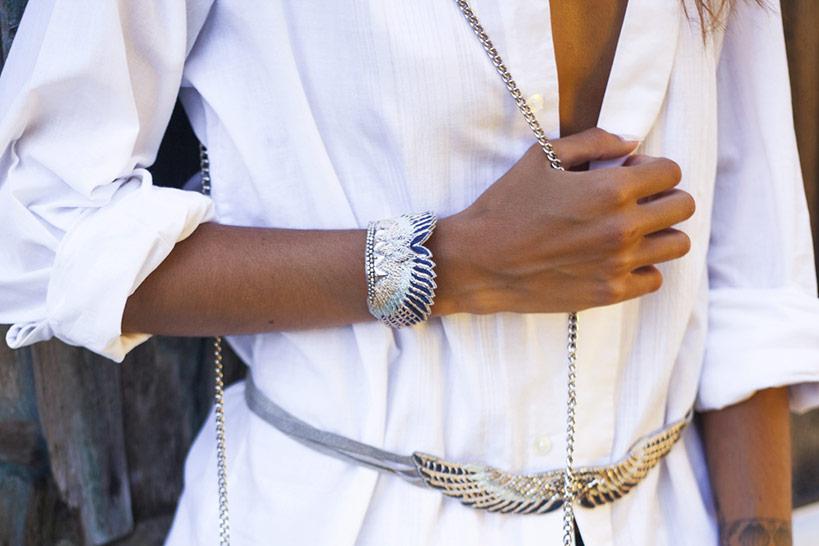 Bracelet bohème Shakti | Duck/Cold Blue | Photo 1