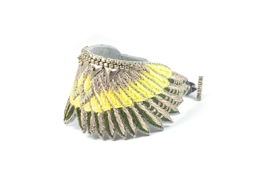 Shakti boho bracelet - Green/Yellow | Photo 2