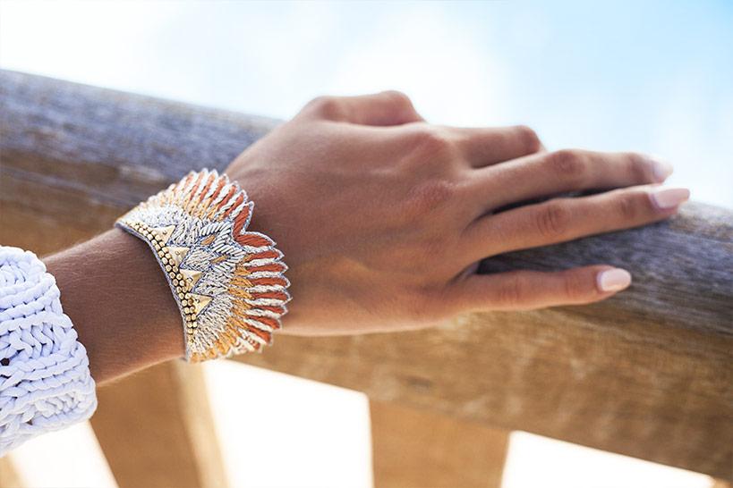 Bracelet bohème Shakti | Nuts/Safran | Photo 1