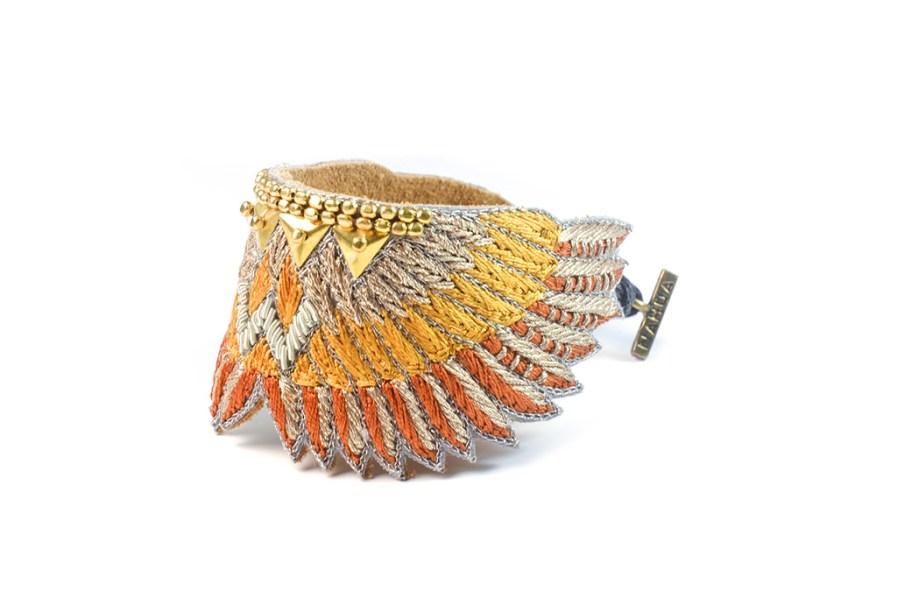 Bracelet bohème Shakti | Nuts/Safran | Photo 2