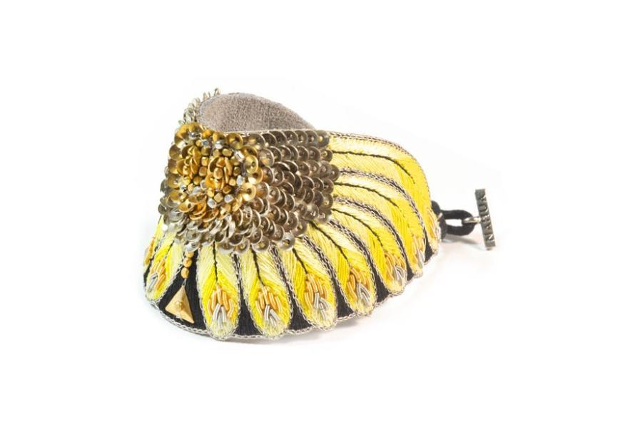 Bracelet ethnique Nikita | Yellow | Photo 2