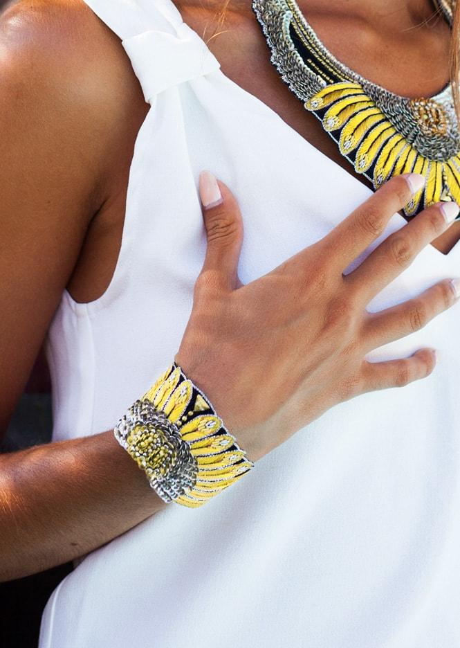 Bracelet ethnique Nikita | Yellow | Photo 1