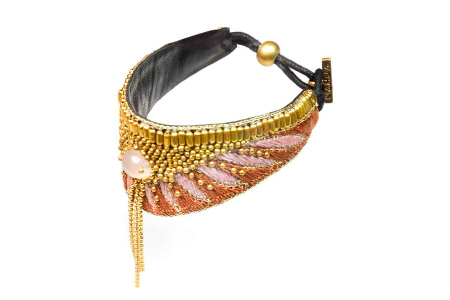 Bruna ethnic bracelet - Nuts/Pink   Photo 2