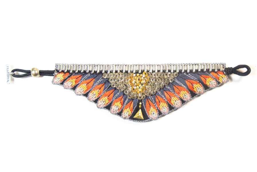 Nita ethnic bracelet - Coral | Photo 3